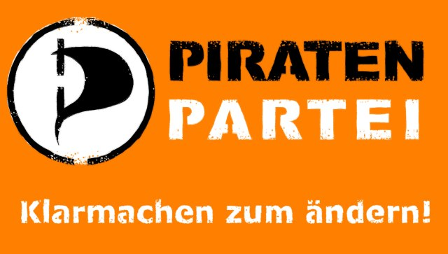 "Pirate Party motto: ""Prepare to change"""
