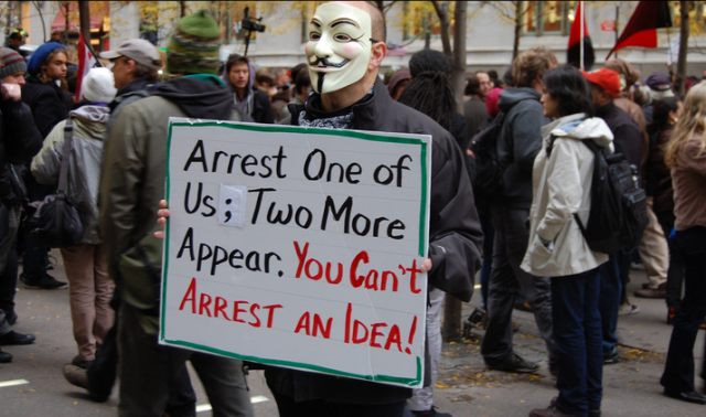 V at Occupy Wall Street