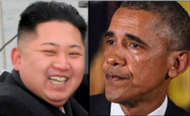 kim laughing obama crying